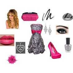 """Homecoming Night"" Hot pink,black and Zebra....Prom,Ring dance or Homecoming, cara middleton this is for u!"