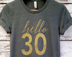 Glitter / 30th Birthday Shirt / Birthday Girl by GandBamApparel