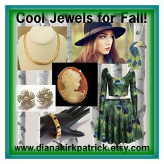 """""""Cool Jewels for Fall!"""" by diana-32 ❤ liked on Polyvore featuring Wall Pops!, Sarah Coventry and vintage"""
