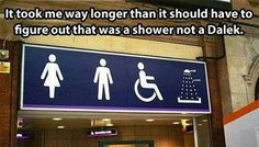 But...no I refuse to accept that is a shower. It is a Dalek!