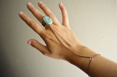 DIY boho ring bracelet