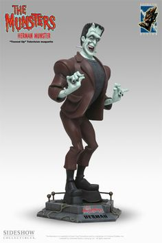 Polystone Statue - Electric Tiki - The Munsters - Herman Munster Munsters Tv Show, The Munsters, Evil Pictures, Evil Pics, Herman Munster, Tiki Statues, Scary Monsters, Classic Monsters, Old Shows