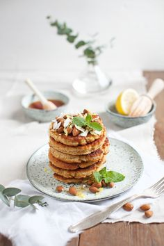 Ricotta oatmeal pancakes