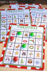 Free Printable Christmas Bingo Games