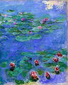 Claude Monet (French, Impressionism, 1840-1926): Water Lilies, c. 1914-1917. Oil on canvas, 166.1 x 142.2 cm. Fine Arts Museums of San Francisco, The Legion of Honor, San Francisco, California, USA.10380364_678465938874590_5475026159671000876_n.jpg (238×296)