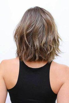 20 Fresh and Fashionable Shoulder Length Haircuts: #17. Shoulder Length Wavy Hair Back View