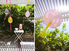 Macrame Balloons: Whip up some sweet party decorations with this tutorial. Your patio or porch will look awesome adorned with these balloon creations. (via You Are My Fave)