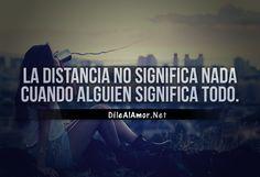 La distancia no significa nada