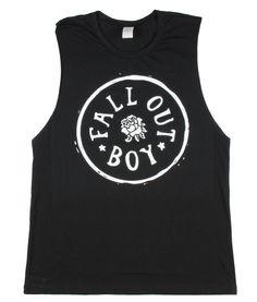 Fall Out Boy Circle Logo Girls Muscle Top