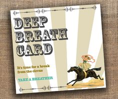 """Free printable """"Deep Breath Cards"""" for a little wedding solitude 