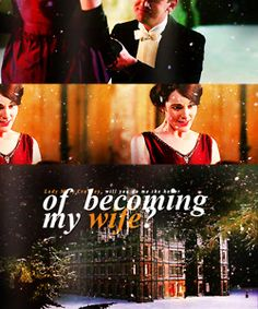 """""""Lady Mary Crawley, will you do me the honor of becoming my wife?"""" ♥ love this moment!"""