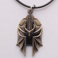 Dragon Age Helmet Necklace -- SO COOL!