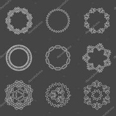 Készlet-ból divatos geometrikus alakzatokat csípő keretek gyűjtemény — Stock Illusztráció #114563614