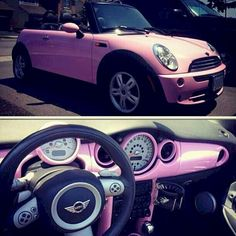 I really want a baby pink mini convertible! Mini Cooper 2017, Cooper Cars, My Dream Car, Dream Cars, Fiat 500, Pink Mini Coopers, Accessoires Mini, Boat Interior, Interior Ideas