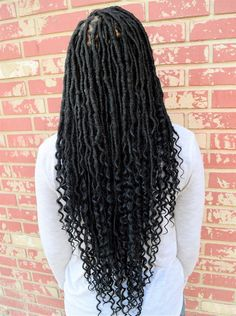 The Curl Refinery Girls Braids, African American Hairstyles, Crochet Goddess Faux Locs, Faux Locs Goddess, Faux Locs Hairstyles, Long Hairstyles, Twist Hairstyles, Faux Dreads, Dreadlocks