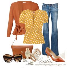 Love Polka Dots! -- yellow polka dots, created by stacy-gustin on Polyvore