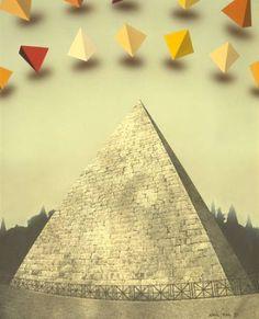 "Saatchi Art Artist Adrià Pina; Painting, ""ROMA, pirámide de Cayo Cestio"" #art"