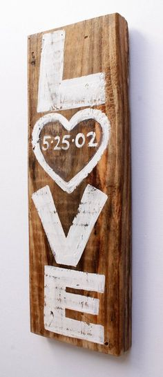 Custom Rustic White Wedding Sign Decor Personalized by MangoSeed