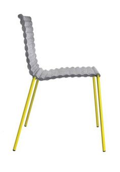 yellow and grey chair
