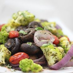 Easy roasted veggies on my blog tonight. We had ours with crab legs. I always add lemon, bay leaves, coriander and some salt to my boiling water, adds so much flavor to the crab!