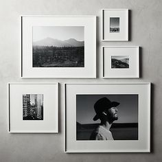 picture wall ideas Shop Gallery White Frames with White Mats. Exhibit your favorite photos and images gallery-style. White mat floats one photo within a sleek picture frame of bri Unique Picture Frames, Picture Frame Crafts, Photo Frame Ideas, 16x20 Frame, Wall Picture Frames, Picture Frame Layout, Photo Frame Design, Diy Picture Frames On The Wall