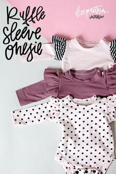 Ruffle Sleeve Onesie | See Kate Sew
