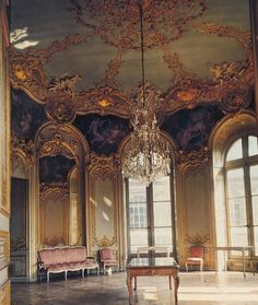 """GERMAINE BOFFRAND: Salon de la Princesse, Hôtel de Soubise, in Paris. - an example of the early Rococo and today serves as the national archives of France. (""""Hotel"""" in French is related to the Italian term """"palazzo"""" and be translated as """"city palace. Beautiful Architecture, Interior Architecture, Interior And Exterior, Versailles, Hotel In French, Prince, Space Wedding, Rococo Style, Windows"""