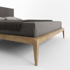 Кровать MIA от HBMart - массив дуба с покрытием из льняного масла и пчелиного воска