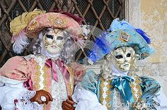 Italy, Venice Carnival: noble couple