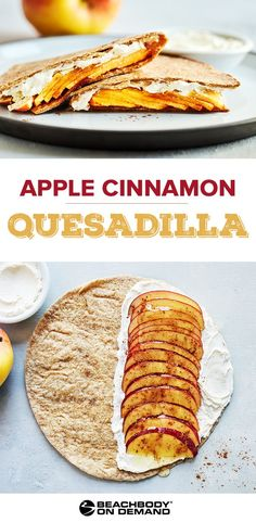 This Apple Cinnamon Quesadilla recipe with apples and cream cheese makes a quick breakfast, healthy dessert, or a great midday snack. (brunch recipes with tortillas) Breakfast Party, Breakfast Recipes, Breakfast Healthy, Breakfast Fruit, Breakfast Tortilla, Quick Snacks, Healthy Snacks, Healthy Recipes, Healthy Fruit Desserts