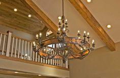 Chandelier - Handforged Copper & Iron - Customer Photo - CHT079