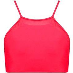 Boohoo Taipei Mix And Match Mesh Insert Crop Bikini Top | Boohoo ($9) ❤ liked on Polyvore featuring swimwear, bikinis, bikini tops, swim suit tops, crop bikini top, crop bikini, crop swim top and tankini tops