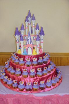 Disney Princess castle cake!