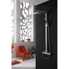 Barra de ducha IFive modelo Tenerife  - Termostática - Rociador 20x20cm - Acabado latón cromado - Extensible: 93 a 143cm