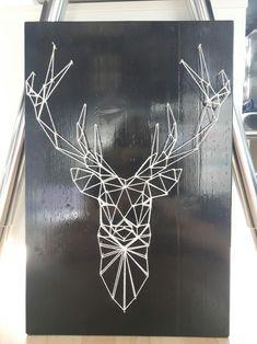 #diy #stag #deer #stringart #wood #homemade
