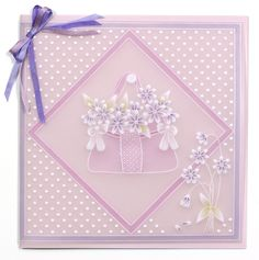 Polka dot and floral card from Pergamano! Vellum Crafts, Parchment Design, Parchment Cards, Butterfly Template, Butterfly Dragon, Monarch Butterfly, Silk Ribbon Embroidery, Pop Up Cards, Paper Cards