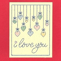 I Love You Card - 5x7 | What's New | Machine Embroidery Designs | SWAKembroidery.com Starbird Stock Designs