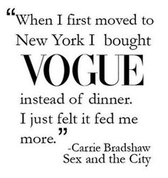 Carrie Bradshaw. Sex and the City
