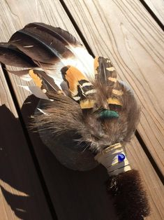 Eagle Spirit Smudge Feather Fan with Deer by SoulWaysSmudgeFans