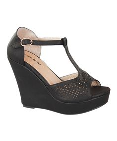31ff750cdb9f Loving this TOP MODA Black Ella Wedge on  zulily!  zulilyfinds Happy  Shopping