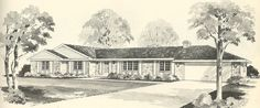 Vintage House Plans 1960s: Brick Veneers and Angled Homes | Antique Alter Ego