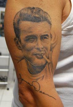James Dean Tattoos | ManiacKilla: James Dean abgeheilt | Tattoos von Tattoo-Bewertung.de