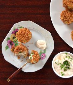 Mini Crab Cakes With Lemon-Chive Mayonnaise | RealSimple.com