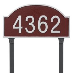Montague Metal Products Dover Arch One Line Standard Address Plaque with Lawn Stakes Finish: Sand/Gold