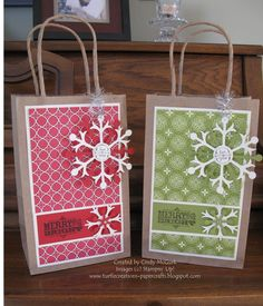Image result for hand decorated white gift bags