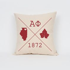 Alpha Phi Icons Custom Pillow / ΑΦ / Sorority Pillow by Sororitee
