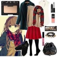 A rad plaid scarf and an outfit inspired by a cute anime girl in this clever entry for the Wrap It Up fashion mission
