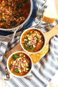Italian Sausage Soup with White Beans and Spinach   The Suburban Soapbox