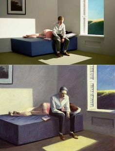 Lindsay Lohan : 13 Edward Hopper Paintings Are Recreated As Sets For Indie Film 'Shirley - Visions of Reality. Shirley Visions Of Reality, Hooper Edward, Edward Hopper Paintings, Tableaux Vivants, David Hockney, American Artists, Cinematography, Art History, Indie