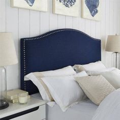 Better Homes and Gardens Grayson Linen Upholstered Headboard with Nailheads, Multiple Colors, Multiple Sizes